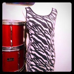 🔥 5 for $20 SALE Sequined zebra dress